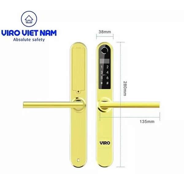 Khóa cửa nhôm xingfa Viro VR S30B Smartlock 4in1