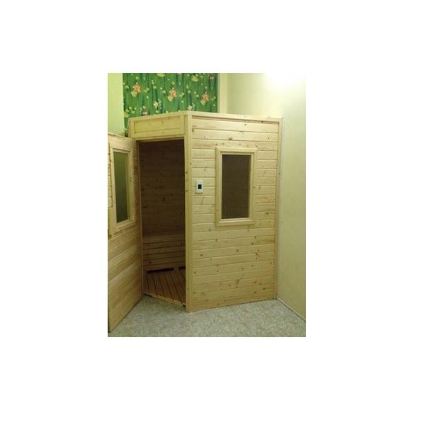 Thiết kế phòng xông hơi gỗ thông Thủy Điển 1000x1000x2000mm