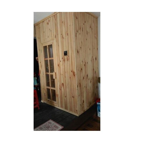 Thiết kế phòng xông hơi gỗ thông Việt Nam 1200x1000x2000mm