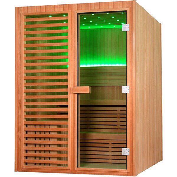 Thiết kế phòng xông hơi gỗ thông phần lan nhập khẩu 1300x1500x2000mm