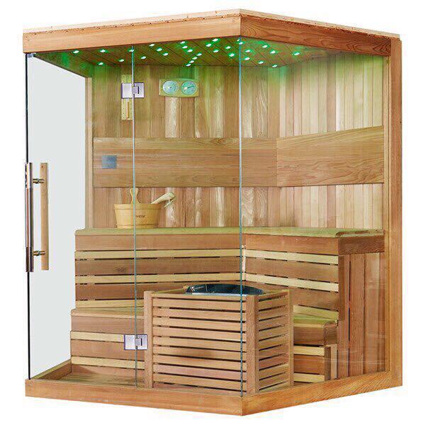 Thiết kế phòng xông hơi gỗ thông phần lan nhập khẩu 1400x1600x2000mm