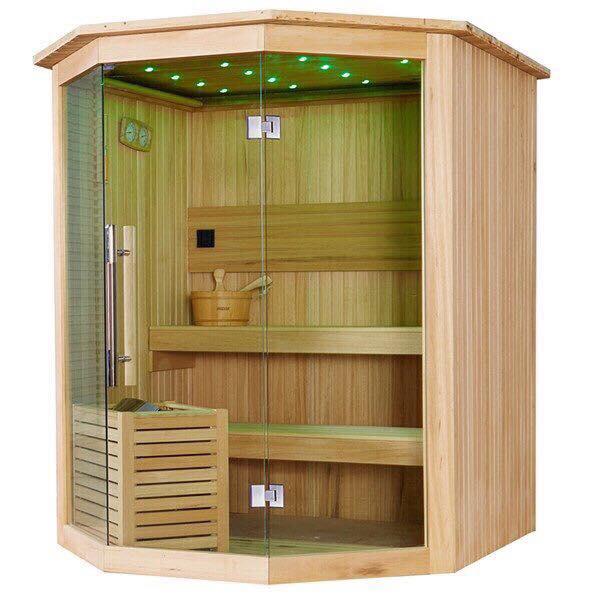 Thiết kế phòng xông hơi gỗ thông phần lan nhập khẩu 1300x1600x2000mm