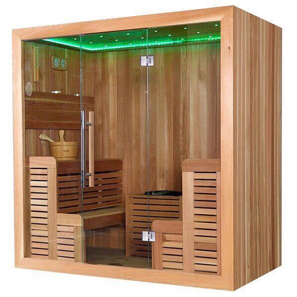 Thiết kế phòng xông hơi gỗ thông phần lan nhập khẩu 1400x1500x2000mm