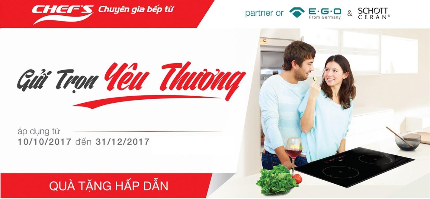 Khuyến mại lớn thiết bị nhà bếp Chefs