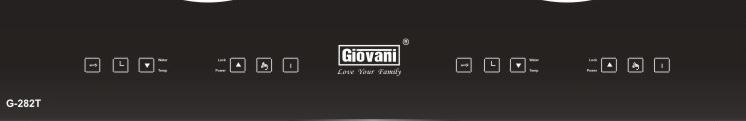 Hệ thống bảng điều khiển của bếp từ Giovani G-282T