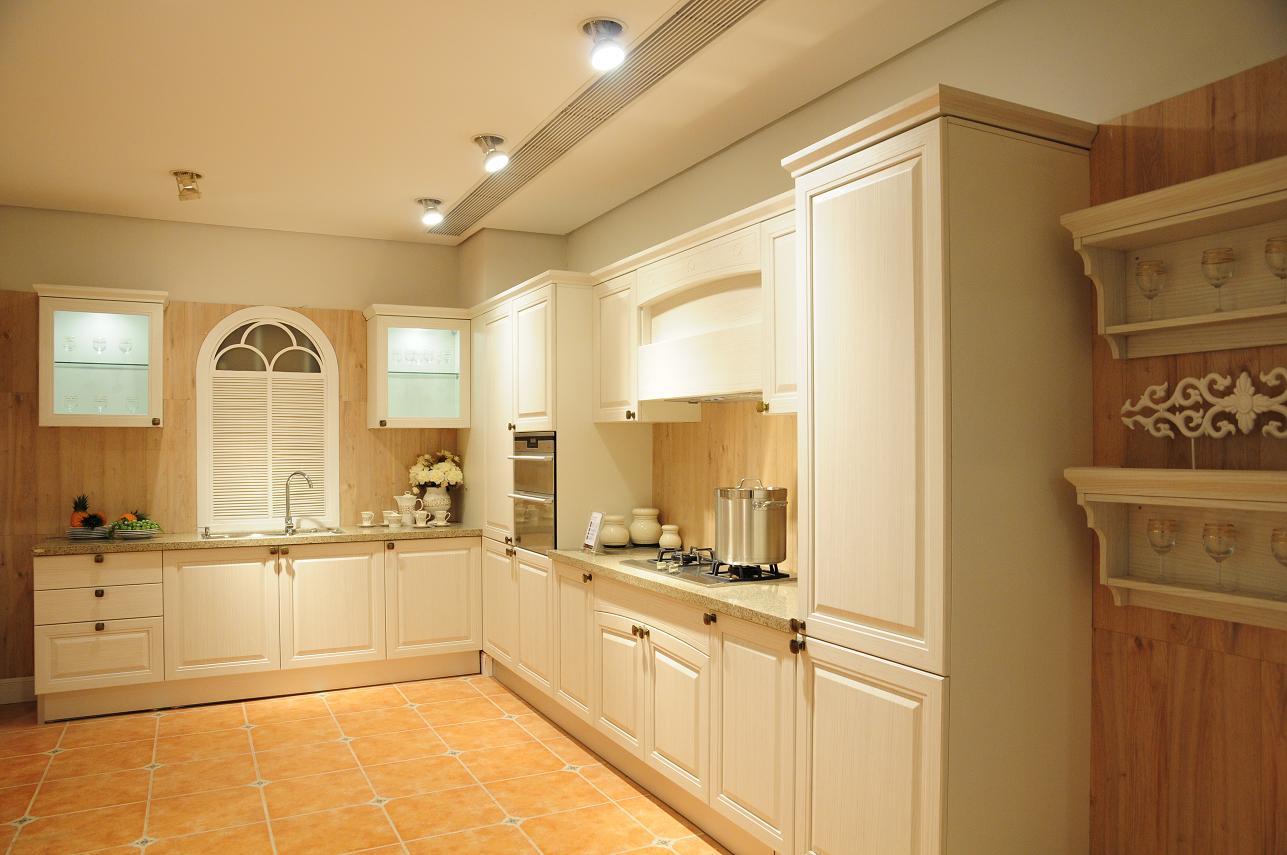 Tủ bếp sồi trắng cao cấp