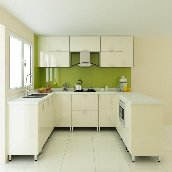 Tủ bếp gỗ MDF sơn PU trắng hoặc màu (Sài Gòn)