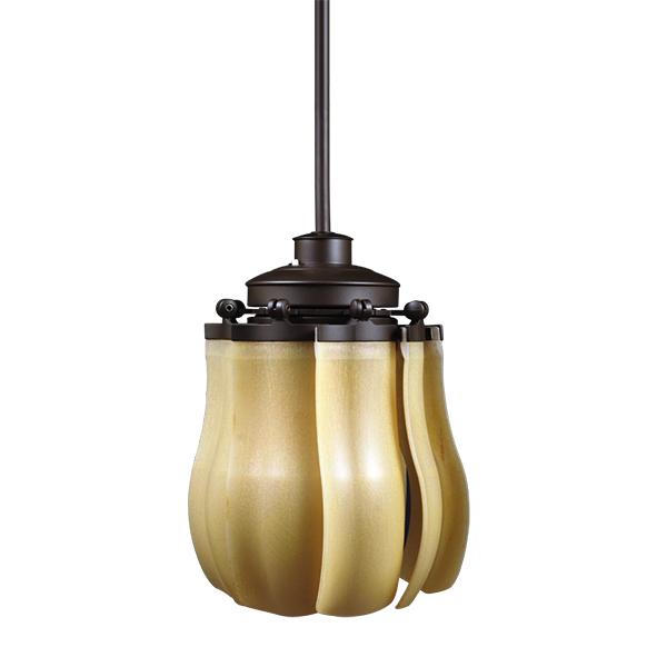 Quạt trần đèn Royal fiore màu nâu