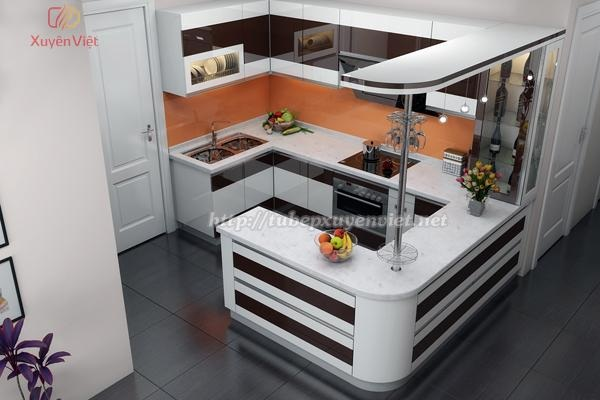 Tủ bếp nhựa Laminate kiểu chữ G