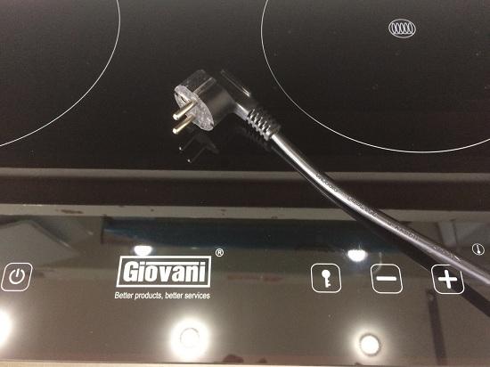 phích cắm điện của bếp hồng ngoại giovani G-22E