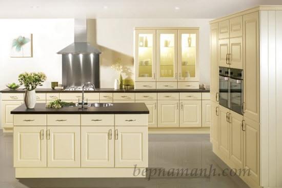 Tủ bếp gỗ công nghiệp Acrylic 1