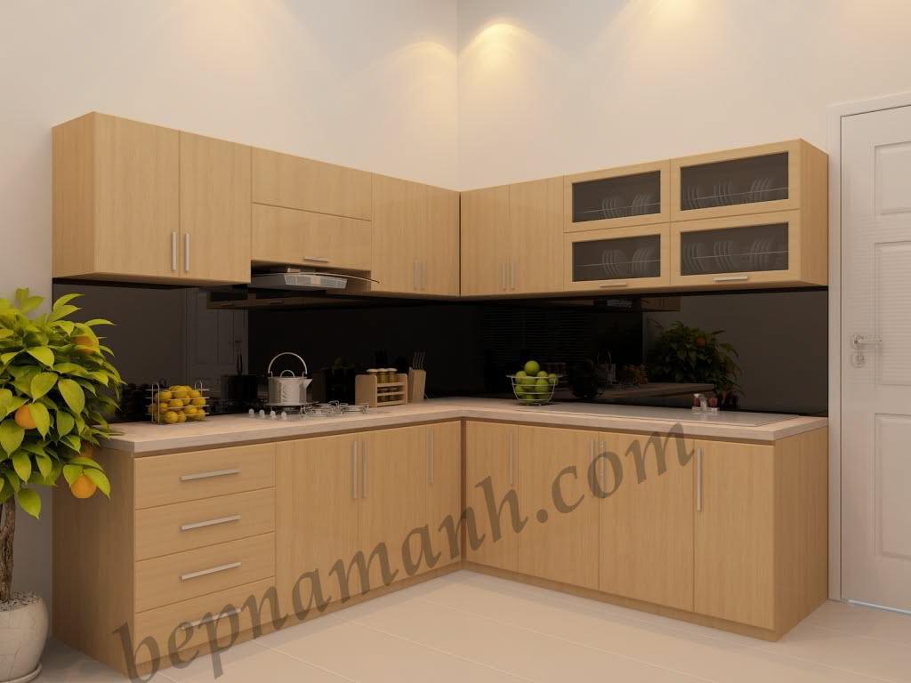 Tủ bếp gỗ công nghiệp Laminate 01