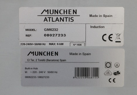 tem bếp Munchen GM-6232