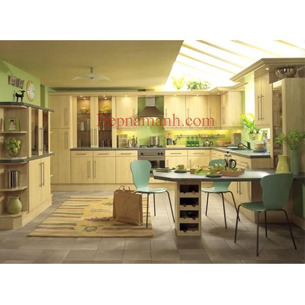 Tủ bếp Gỗ Sồi Nga 06