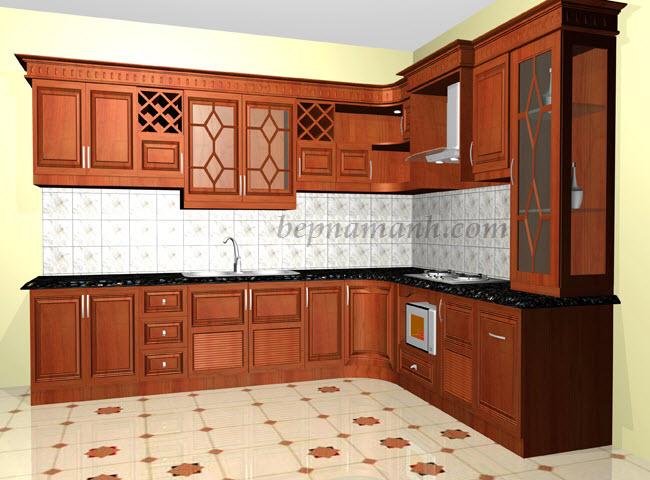 Tủ bếp Gỗ Xoan Đào Tây Bắc 4