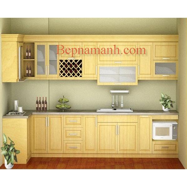 Tủ bếp Gỗ Sồi Nga 01