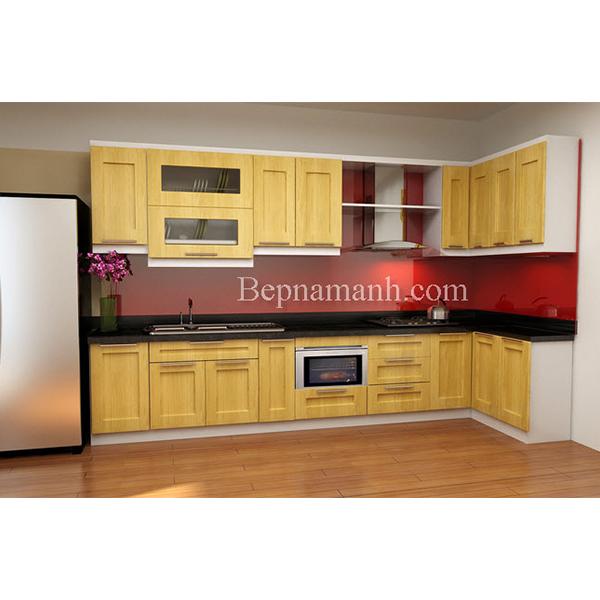Tủ bếp Gỗ Sồi Nga 04