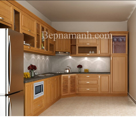 Tủ bếp Gỗ Xoan Đào Tây Bắc 2
